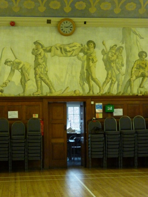 A section of Neville Lytton's First World War Fresco