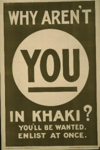 Why aren'y you in khaki?