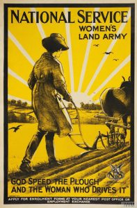 Recruitment poster for the Women's Land Army. Art work by Henry George Gawthorn © IWM (Art.IWM PST 5996)