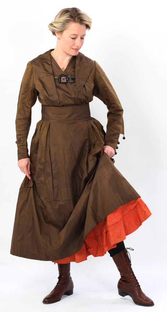 Make do and Mend: this 1916 afternoon dress was originally a Victorian crinoline gown.