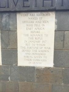 Nairobi South Cemetery & British & Indian WW1 Memorial
