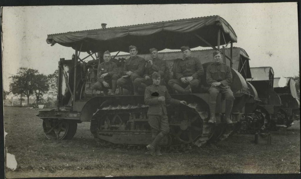 Members of the 70th Artillery Regiment in France.