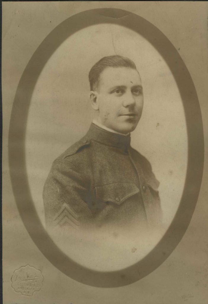 Portrait of Pisciotta taken before his departure with the American Expeditionary Forces